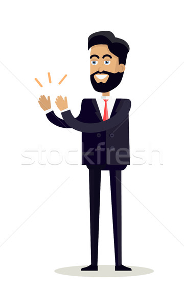 Businessman Clapping Hands with Happy Face Stock photo © robuart