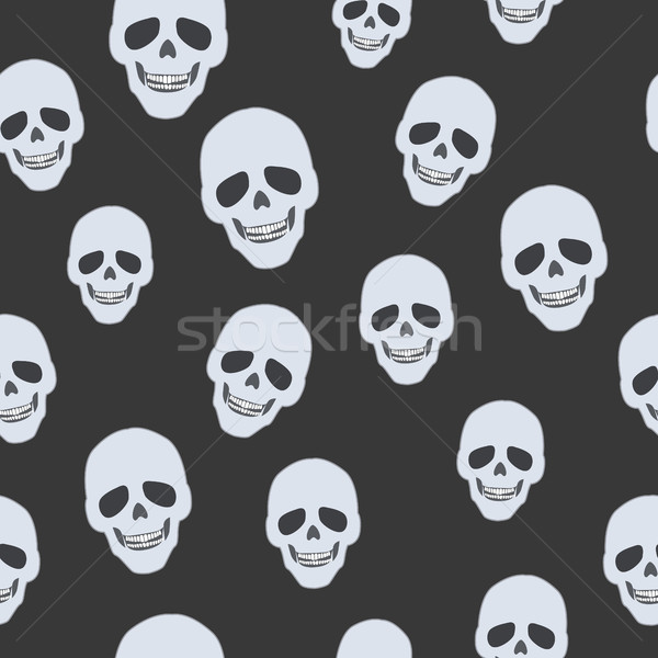 Skulls on Black. Seamless Pattern. Endless Texture Stock photo © robuart