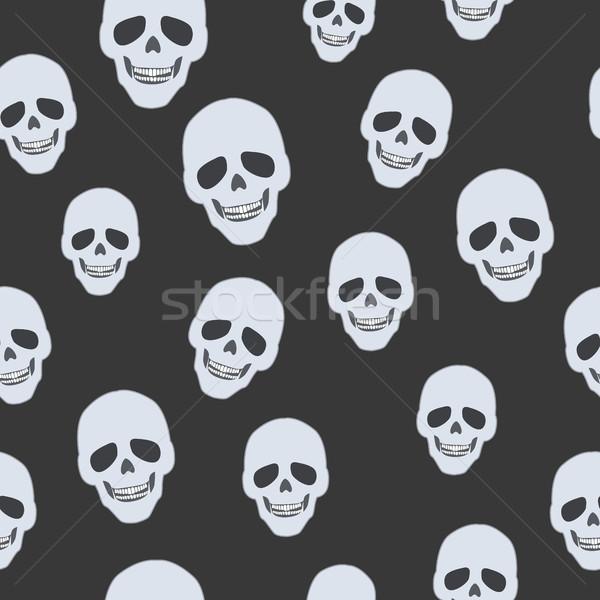 Schedels zwarte oneindig textuur illustratie Stockfoto © robuart