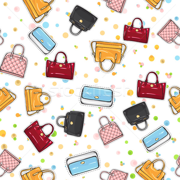 Collection of Women Handbags on Endless Texture. Stock photo © robuart