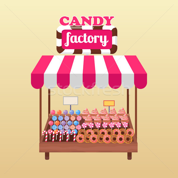 Candy Factory Bright Stand Isolated Illustration Stock photo © robuart