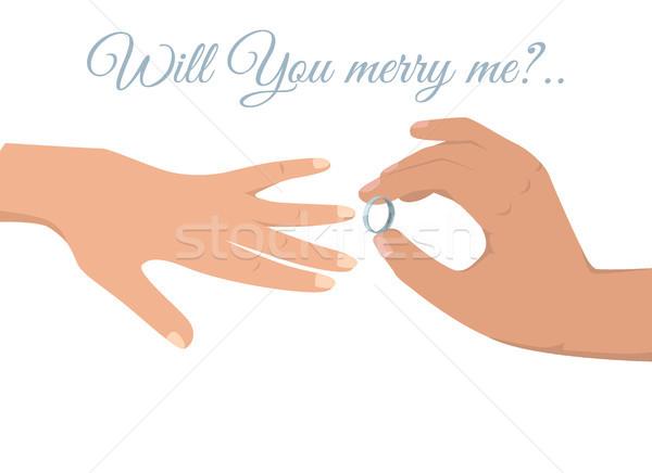 Düğün töreni yalıtılmış örnek bana imzalamak beyaz Stok fotoğraf © robuart