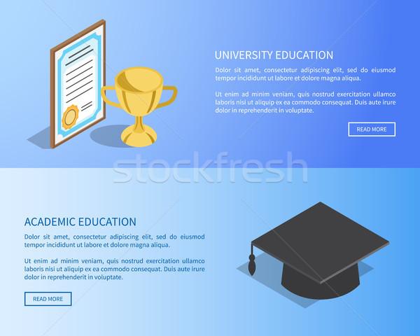 Uczelni akademicki edukacji Internetu strona pełny Zdjęcia stock © robuart