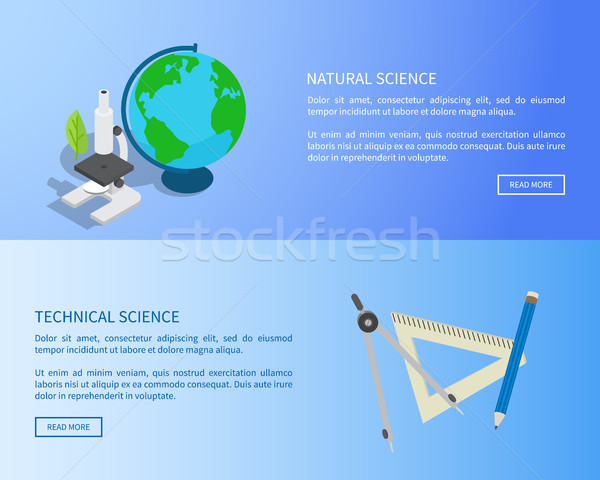 Natural and Technical Sciences Internet Info Page Stock photo © robuart