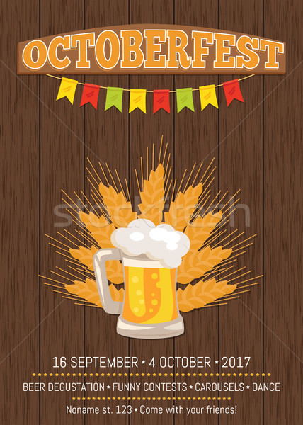 Octoberfest Creative Poster Beer Traditional Glass Stock photo © robuart