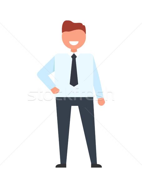 Affaires blanche tshirt pantalon bras taille Photo stock © robuart