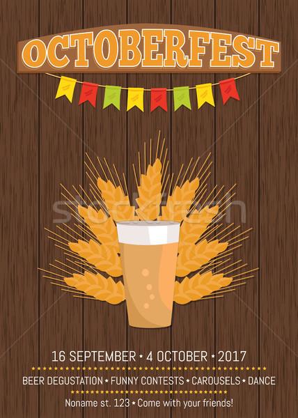Lata beber cartaz quartilho escuro cerveja Foto stock © robuart