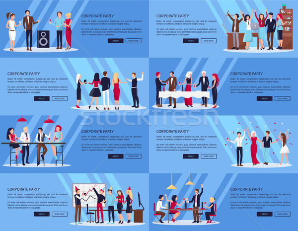 Corporate Party Set of Pics Vector Illustration Stock photo © robuart