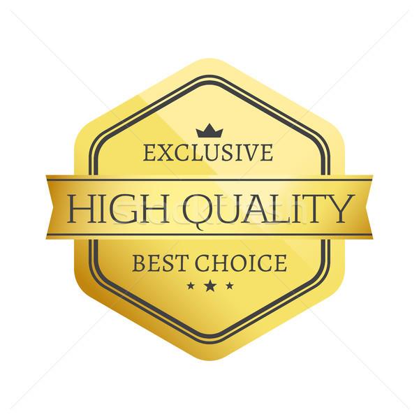 Exkluzív magas minőség legjobb legjobb választás arany Stock fotó © robuart