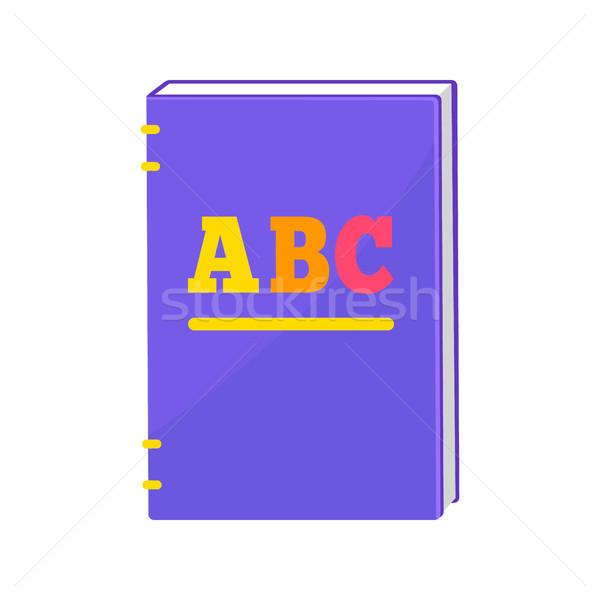 Książki twarda oprawa kolorowy litery twarz strona Zdjęcia stock © robuart