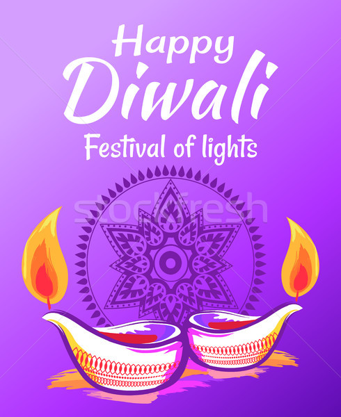 Stock photo: Happy Diwali 2017 Wish Vector Illustration
