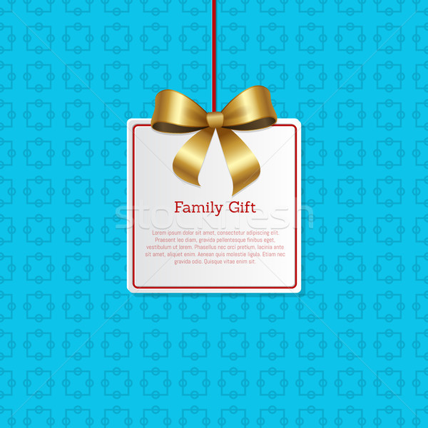 Family Gift Card Hanging on Knit Label Tag Place Stock photo © robuart
