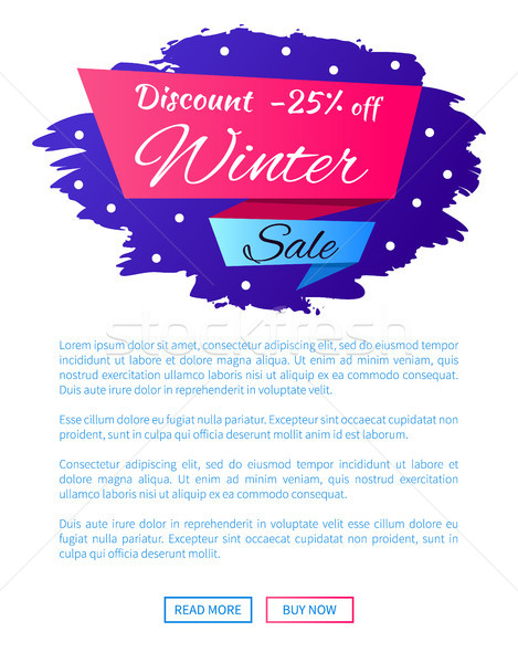 Discount - 25 Winter Sale Web Poster Label Design Stock photo © robuart