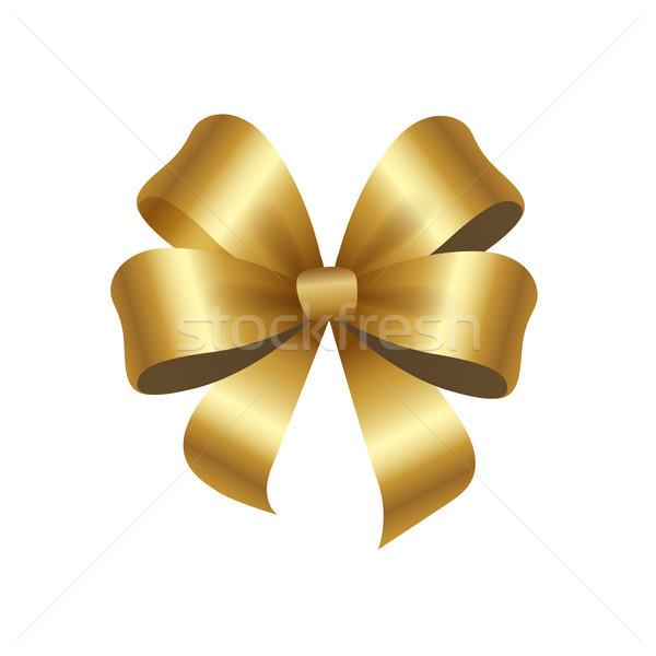 Presente regalo elegante raso cinta oro Foto stock © robuart