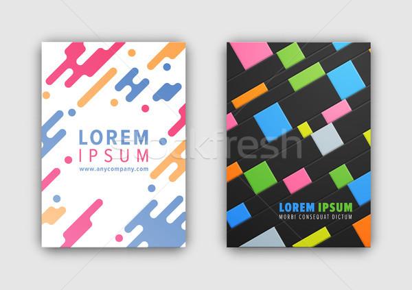 Gyűjtemény kettő képek széles vonalak készít Stock fotó © robuart