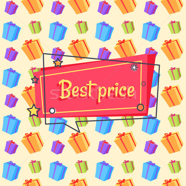 Legjobb ár javaslat szalag végtelen minta vektor tér Stock fotó © robuart