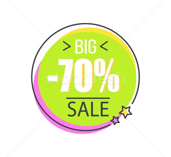 Duży sprzedaży promo naklejki kółko cena Zdjęcia stock © robuart