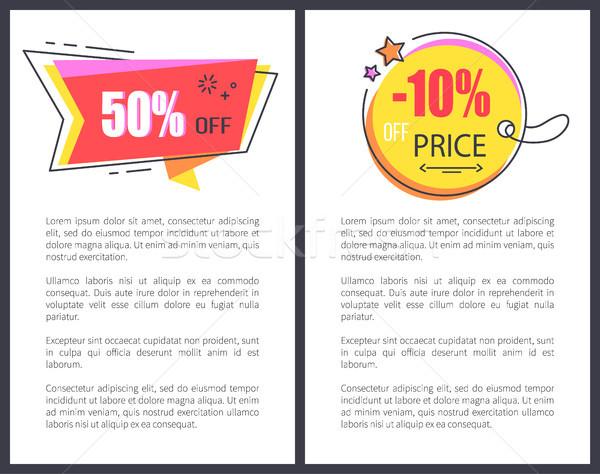 цен сокращение объявление ярко рекламный баннер Сток-фото © robuart