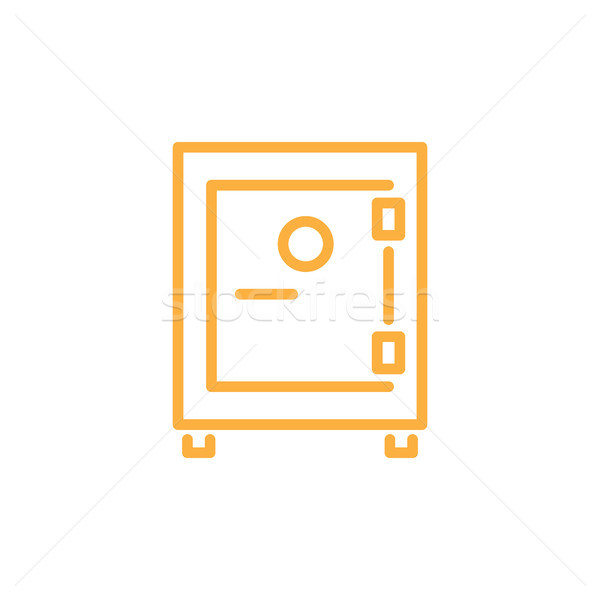 Strongbox Infographic Element Vector Illustration Stock photo © robuart