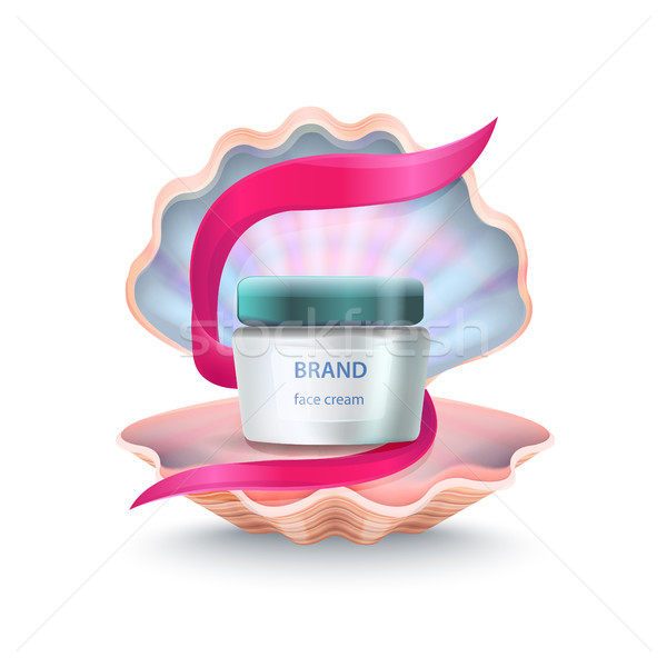 Brand Face Cream in Shell Vector Illustration Stock photo © robuart