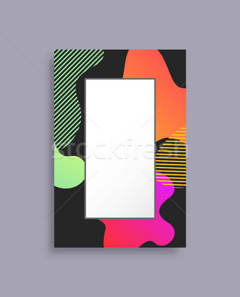 Decorated Coloful Photo Frame Vector Illustration Stock photo © robuart