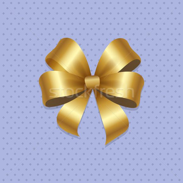 Altın yay düğüm dört döngü dekoratif Stok fotoğraf © robuart