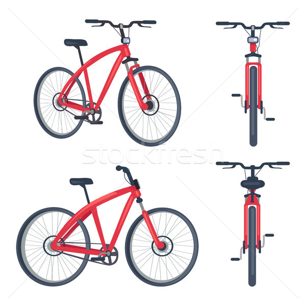 Bike with Pedals and Rudder Front View, Bicycle Stock photo © robuart