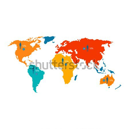 World Map with Statistical Data about Population Stock photo © robuart