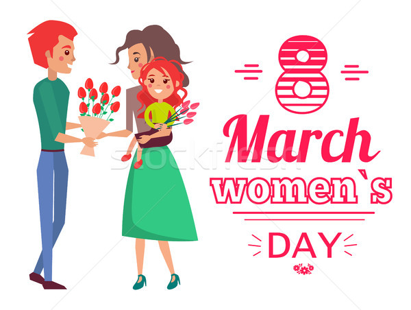 8 March Womens Day Banner Vector Illustration Stock photo © robuart