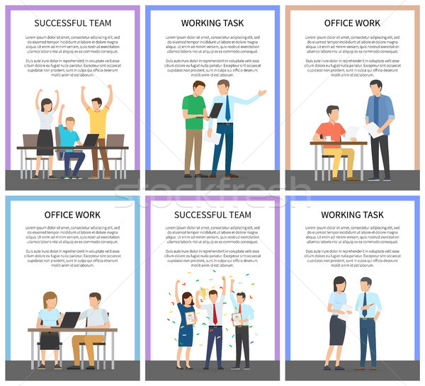 Successful Team Office Work Vector Illustration Stock photo © robuart