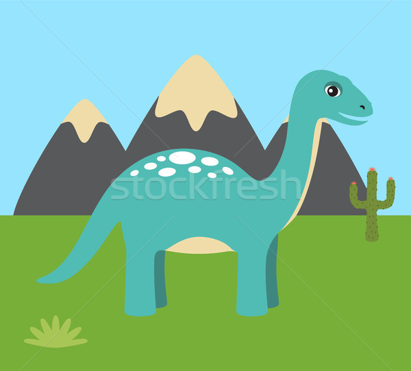 Prehistoric Creature Nature Vector Illustration Stock photo © robuart