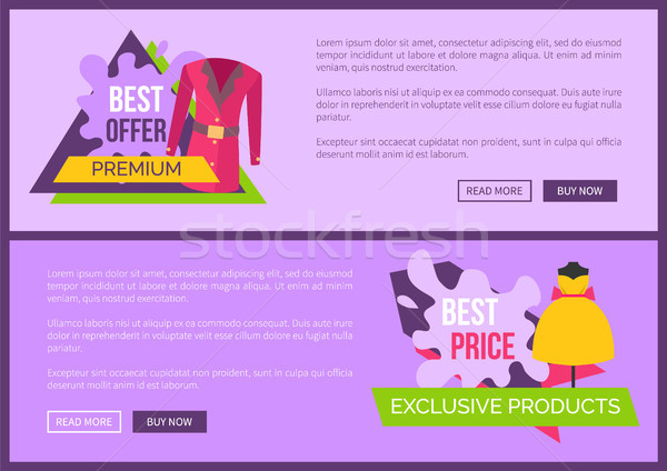 Best Offer Premium Quality Exclusive Products Set Stock photo © robuart