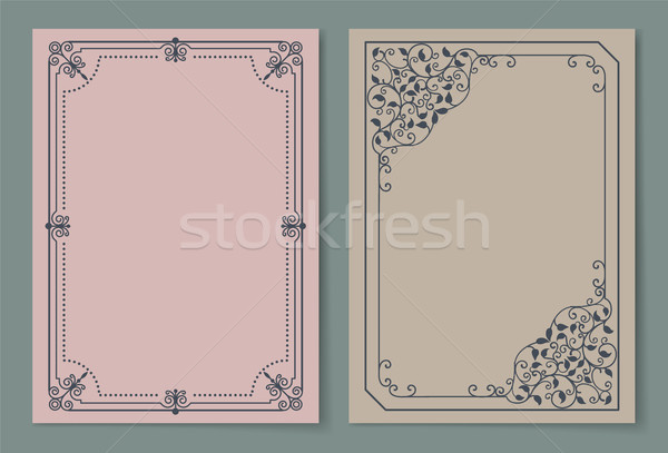 Vintage Frames Collection Curved Borders Isolated Stock photo © robuart