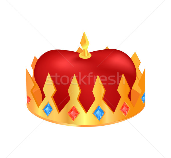 Crown Made of Gold Poster Vector Illustration Stock photo © robuart