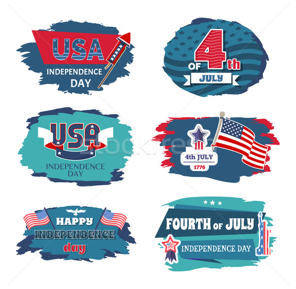 Stock photo: Fourth of July USA Happy Independence Day Posters