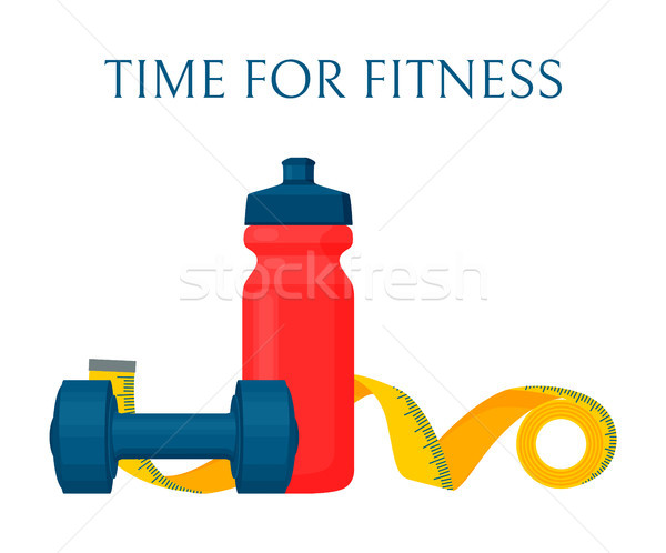 Time for Fitness Color Banner, Vector Illustration Stock photo © robuart