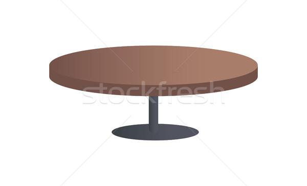 Tabel lay-out kleurrijk elegantie meubels zwarte Stockfoto © robuart