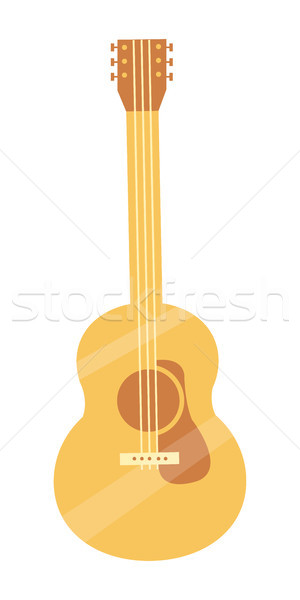 Classic Tuned Acoustic Guitar of Light Solid Wood Stock photo © robuart