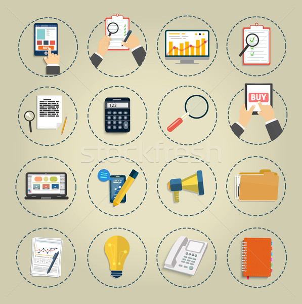 Set of various financial service items Stock photo © robuart