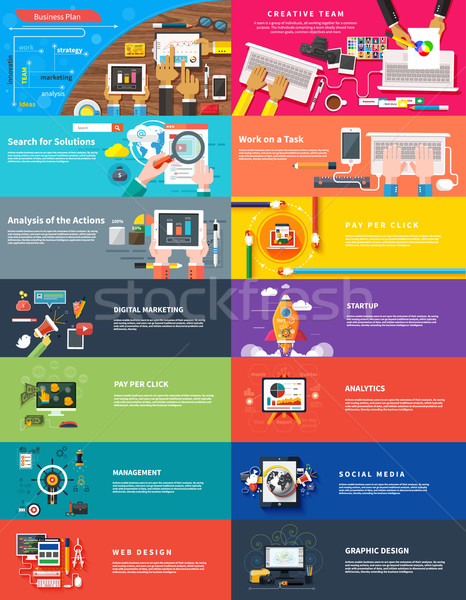 Management digital marketing srartup planning seo Stock photo © robuart