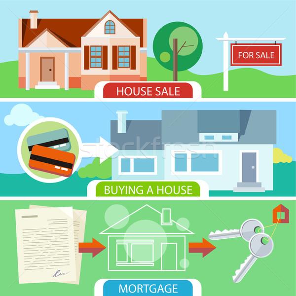 Vente achat maison hypothèque prêt Photo stock © robuart