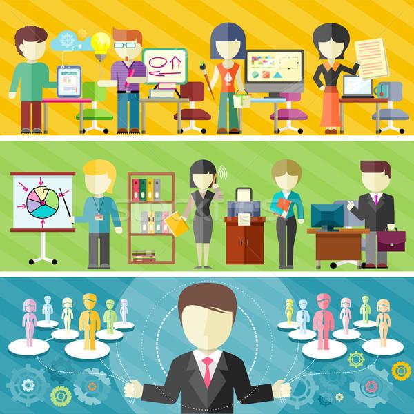 Dynamisch business team ontwerp teamwerk kantoor freelance Stockfoto © robuart