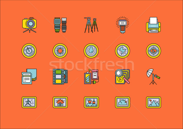 Elements of Photo Processing Equipment Items Stock photo © robuart