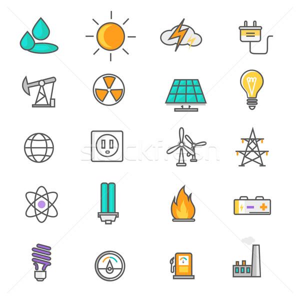 Energy and Resource Icon Set Stock photo © robuart