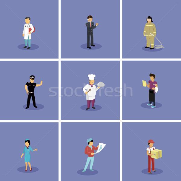 Zestaw popularny zawody lekarza Zdjęcia stock © robuart