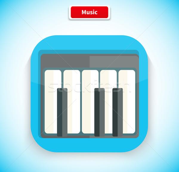 Music App Icon Flat Style Design Stock photo © robuart