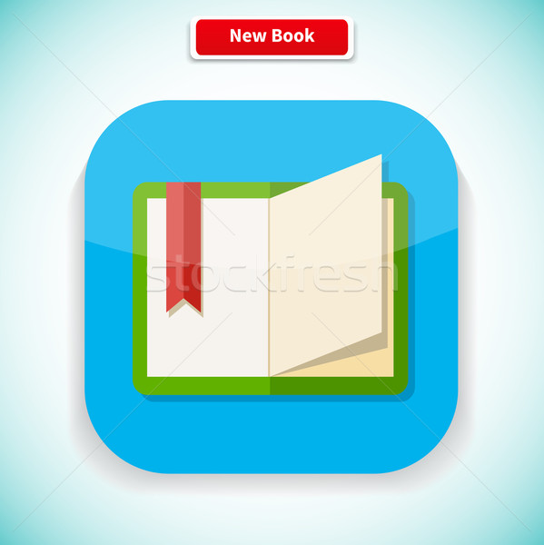 New Book App Icon Flat Style Design Stock photo © robuart