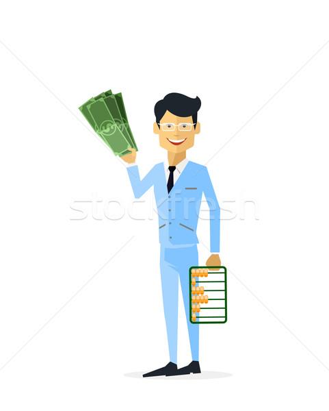 üzletember pénz arany izolált férfi aranyrúd Stock fotó © robuart