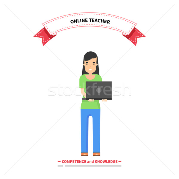 Online Teacher Competence and Knowledge Stock photo © robuart