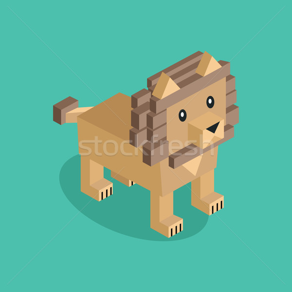 Lion is Brown Stock photo © robuart